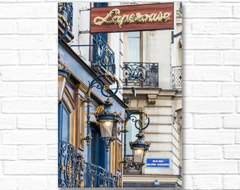 Paris Photography on Canvas - Evening at Laperouse, Classic Paris Architecture, Gallery Wrapped Canvas, Large Wall Art