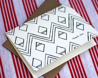 Tribal Notes #4 - A2 Printable Thank You Card (One Design)