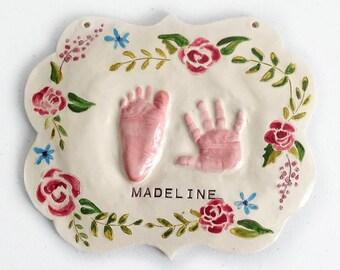Drucken Sie individuelle Baby Kinderzimmer Kunst - schäbige schicke Kindergarten - personalisierte Baby Mädchen Kinderzimmer - individuelle Kinderzimmer Dekor - Baby Mädchen Drucke - Kit - Baby