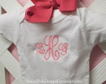 Monogrammed Baby Bodysuit Boy or Girl