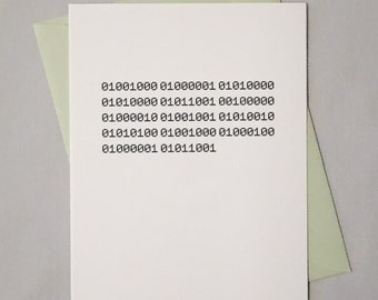 Binary Birthday Card / Binary Code / Happy Birthday Card for Geeks, Computer Nerds, Programmers, Software Engineers, Coders