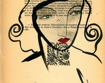 Art Print- Vintage Page, Francophile, French inspired