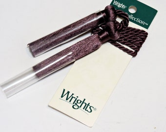 "Wrights Home Collection 27"" Corded Tassel Chair Ties, Purple Mauve, Curtain Drapery Tieback, Valance Swag Window Treatment itsyourcountry"