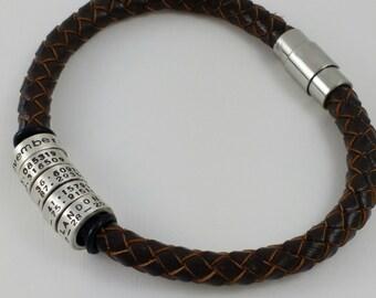 Custom coordinates, Coordinates, Coordinate bracelet, Boyfriend gift,  Coordinate jewelry, Coordinates gift, Custom coordinates, Coordinate