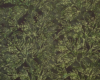 Batik By Mirah Fabric Tea Four Two Bali Fern Grove Hand-dyed Quilting Sewing Crafting