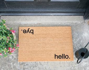 Hello, Bye Novelty Welcome Doormat