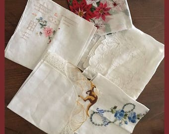 Vintage Handkerchiefs from the 1950's to 70's