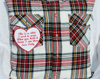 Memory shirt pillow, Shirt pillow, Memory Pillow, Memory Shirt, Custom shirt pillow, in loving memory, Grief pillow, In memory of dad,