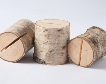 20 Rustic Place Card Holders, table number holder, birch wedding table decor, rustic wedding number holder,woodland  wedding centerpiece
