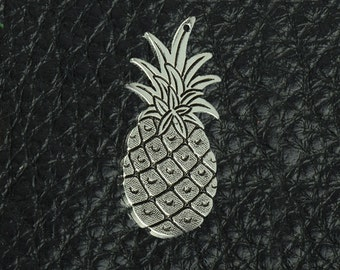 Pineapple Charm with top hole drilled, brass and antiqued, sold by 2 each 03126CS