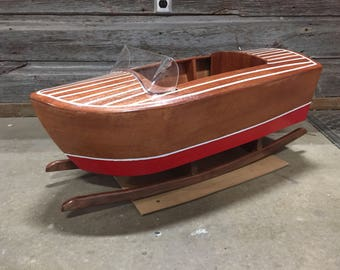 Wood Rocking Boat