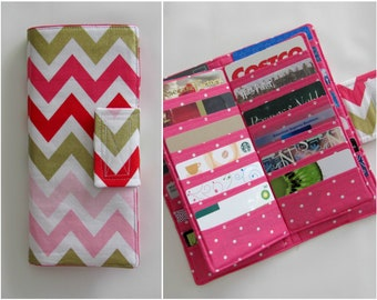 Card Organizer, Credit Card Organizer Wallet, Gift Card Holder, women's wallet, Loyalty Card Organizer, Business Card Organizer, Chevron