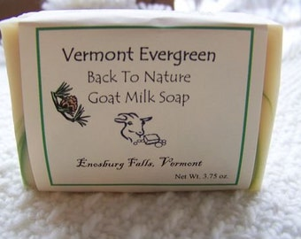 Vermont Evergreen Goat Milk Soap/mens soap/cold process soap/handmade soap