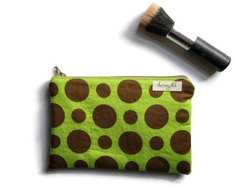 Polka Dot Cosmetic Bag, Wet Bag for Cloth Pads, Polka Dot Travel Makeup Bag, Gift for Her