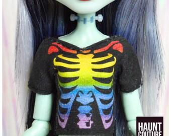 "Monster Doll Haunt Couture ""Rainbow Skele-tee"" T-Shirt high fashion Coachella Looks"