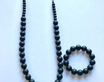 Sale- Black Pearl Style Set