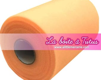 Roll of soft tulle peach coral salmon apricot 90 meters for making baby tutu dress baby girl or decoration
