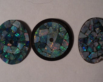 Mosaic Opal watch dial faces for Steampunk, Industrial, Assemblage and Alted Art Pieces.  E157
