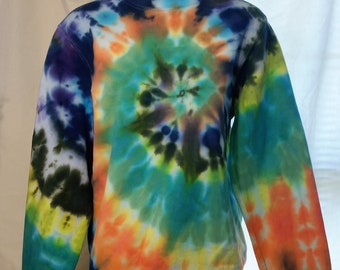 Colorful Tie Dye Spiral Hoodie Small