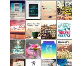 Printable Motivational & Inspirational Quotes Planner Stickers | Printable Stickers | Motivational Quotes | Inspirational Quotes (M-016)