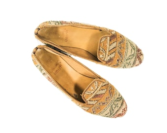 Unisa leather and woven loafers womens size 9B