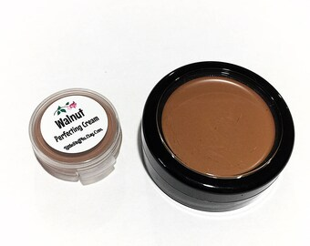 WALNUT Perfecting Cream Foundation - Creamy Foundation Concealer Makeup - Vegan Gluten Free