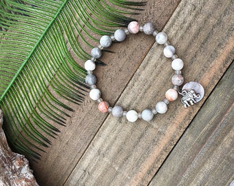 Handcrafted jewelry, Stretch layering bracelets, elephant bracelet