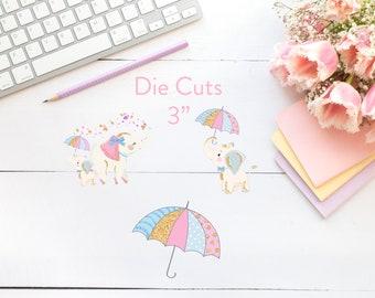 Planner Die Cuts / Elephant Die Cuts / Die Cuts / Planner Accessories / TN Die Cuts / Traveler's Notebook Accessories