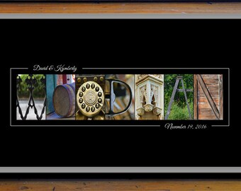 Alphabet Letter Photography - Personalized Name Print - Wedding Gift - Anniversary Gift