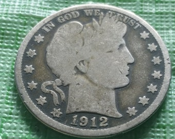 1912 Barber half dollar,  US coin #M1078