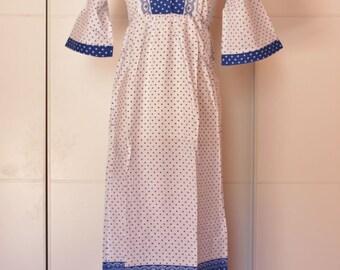 Vintage Hippie Nightgown Nightwear Dress
