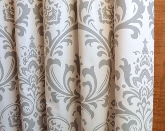 SALE ⋘ 10 Colors, Designer Curtains 24W or 50W x 63, 84, 90, 96 or 108L Traditions Damask Collection, Nursery Curtains, Baby Room Curtains