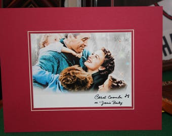 """Autographed Photo by Carol Coombs, """"Janie"""" It's a wonderful Life with Red Mat,Professionally matted display measures a final size of 11x14."""