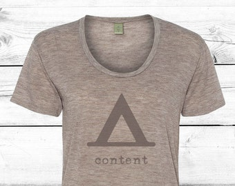 Content - Womens Graphic Tee, Camping Women, T-shirt, Ladies Screen Printed Tee