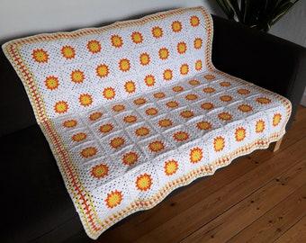 Crochet Blanket Couch Throw Sofa Throw Afghan Blanket Crochet Afghan Crocheted Blanket IN STOCK