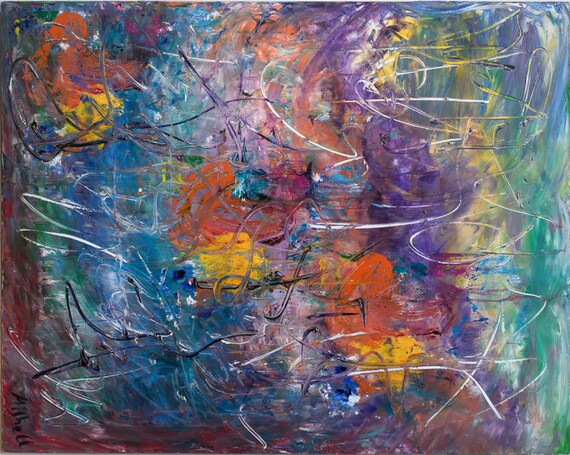 """Print of """"Dangling In Emotion"""" By Bruce Mishell 48"""" x 60"""" (2008)"""