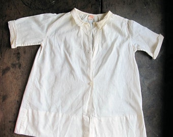 1930s Vintage Baby Christening Gown Cream White 6 mnths Infant Size Castro & Co.