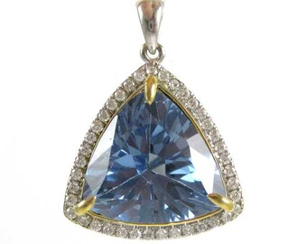 Topaz and Diamond 14K Gold Pendant