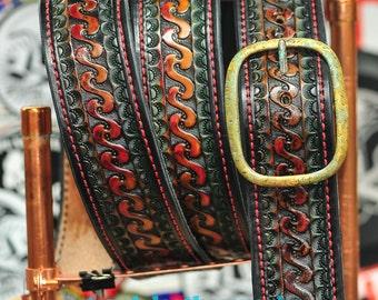 "Belt 3 - The Schwee - a 2"" wide custom leather belt - Unisex, Mens or Ladies Custom Handmade Leather Belt"
