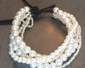 Fancy white and silver bracelet