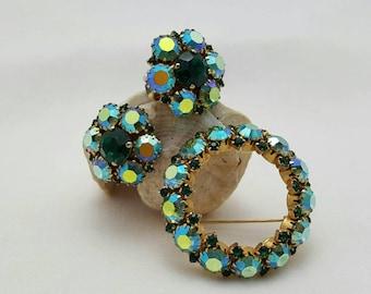WARNER Circle Pin And Earrings