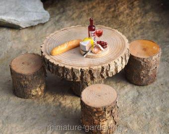 Fairy Dining in the Woodlands for Miniature Garden, Fairy Garden