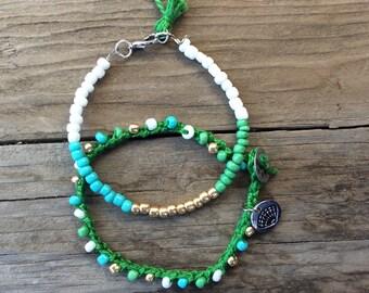 Handmade Seed Bead Bracelets - Pack of 2