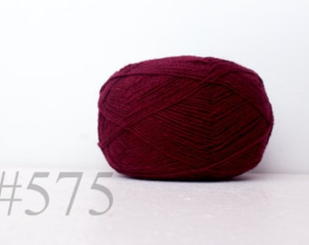 WOOL yarn 100%-knitting yarn -  burgundy #575