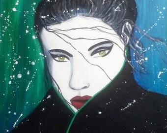 """ENORA - in storm feelings """"Women's fragrance"""" 2016 painting Portrait woman figurative Art"""