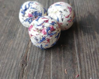 100 seed bombs - wild flower seed, save the bees, red and blue, wedding favour, thank you, baby shower