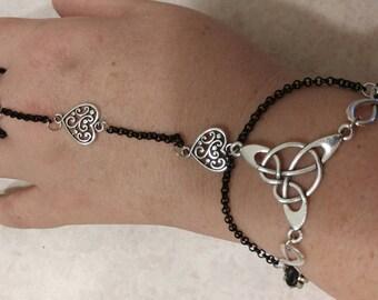 Rubber and metal slave bracelet