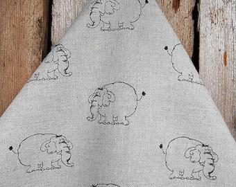 Kitchen Towel Elephant Towel Linen Tea Towel Elephant Design Hand Towel Dish Towel Linen Tea Towel Birthday Gift Christmas Gift