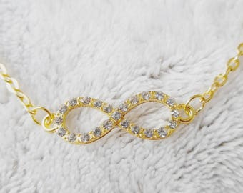 pretty short necklace infinity sign