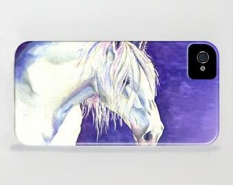 Equine iPhone 7 Case - White Horse Painting - Designer iPhone Samsung Case